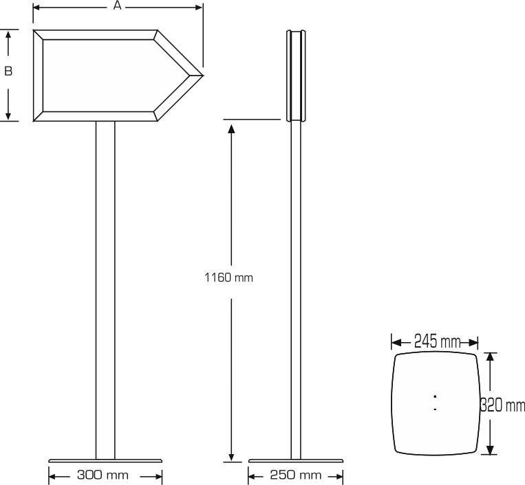 Infoboard arrow mesures
