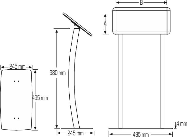 Infoboard menu bended mesures