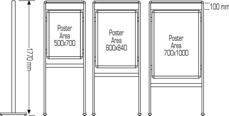 Posterstand Classic Header mesures
