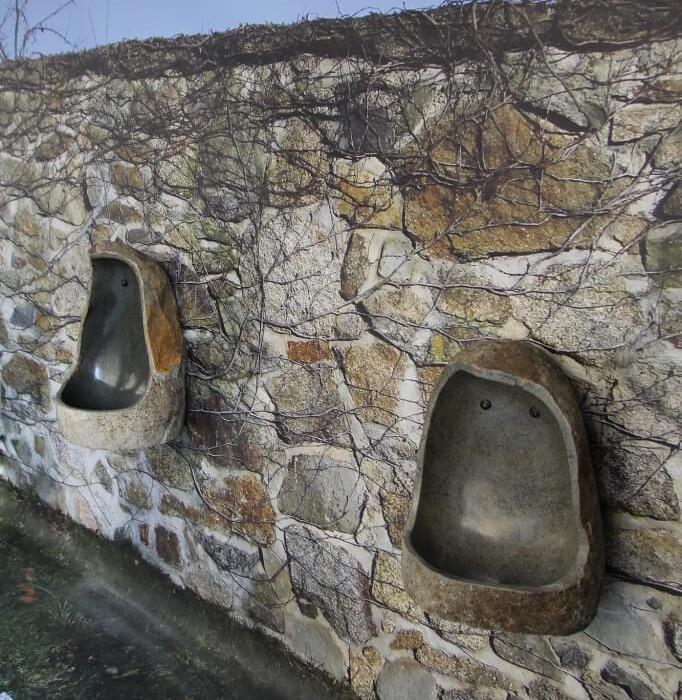 L'urinal impression mur & sol