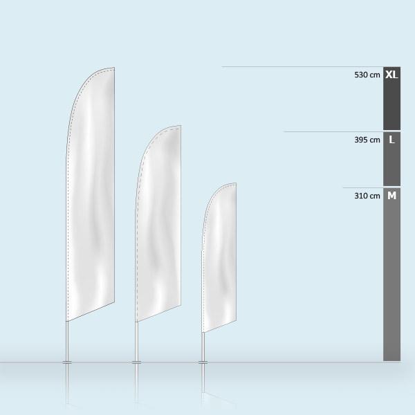 Beachflag Select Oblique mesures recto verso