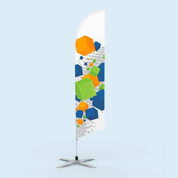 Beachflag Select Oblique pied en croix avec rotation et ressort
