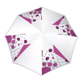Parasol medium 8 parties vue d'en haut