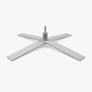 Pied en croix ø 100 cm 17 kg avec rotation_