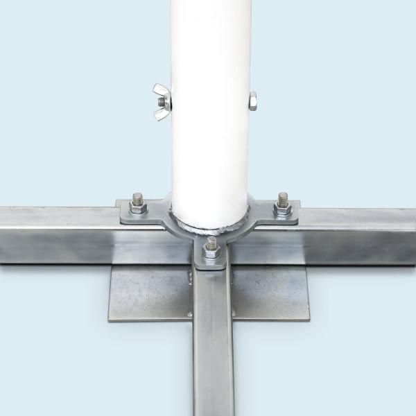 Support à plaques 104 x104 cm 5.5 kg avec mandrin pour tube ø 60mm 1