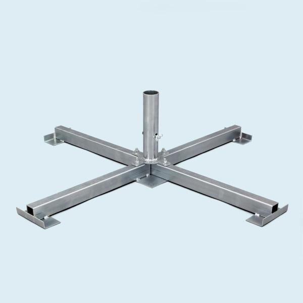 Support à plaques 104 x104 cm 5.5 kg avec mandrin pour tube ø 60mm