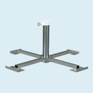 Support à plaques 85 x 85 cm 6 kg pour tube ø 50 mm