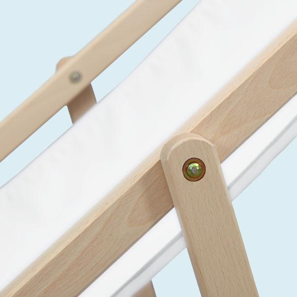 Transat en bois porte-gobelets finition 1