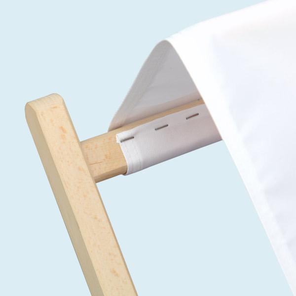 Transat en bois porte-gobelets finition