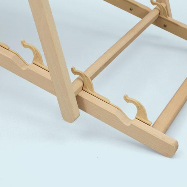 Transat en bois porte-gobelets hauteur réglable