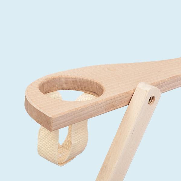 Transat en bois porte-gobelets